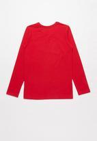 SOVIET - Blake long sleeve logo tee - red