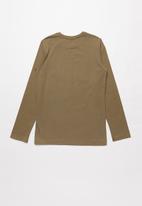 SOVIET - Blake long sleeve logo tee - brown