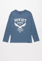 SOVIET - Boone long sleeve logo tee - black
