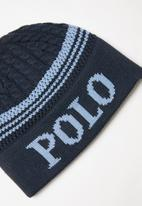 POLO - Brad cable knit beanie - navy