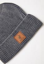 POLO - William classic ribbed beanie - blue