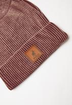 POLO - William classic ribber beanie - burgundy