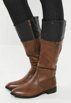 Miss Black - Journey boot - brown & black