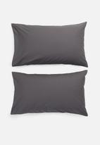 Sixth Floor - Cotton pillowcase set - charcoal