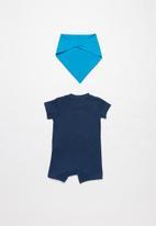 Nike - Nike jumbo futura romper & bib - blue