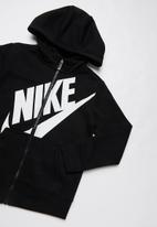 Nike - Nike futura fleece hoodie - black & white