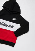 Nike - Nike sportswear air hoodie - black university red