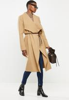 VELVET - Waterfall coat - beige