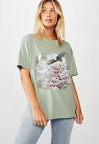 Cotton On - The original graphic tee eagle mountain - green
