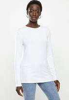 POLO - Bianca long sleeve stretch tee - white