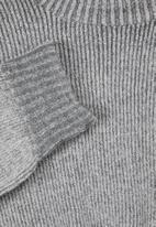 edit - Two tone boxi jumper - grey