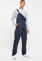 Dickies - Dickies stripe dungaree - navy & white
