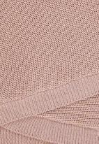 edit - Sparkle wrap jumper - pink