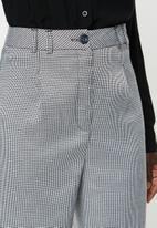 edit - Tailored wide leg pants - white & black