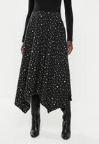 edit - Hanky hem skirt - black & white