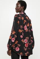 edit - Piecrust balloon sleeve blouse - multi