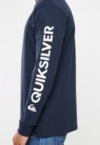 Quiksilver - Comp logo tee - navy