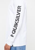 Quiksilver - Comp logo tee - white