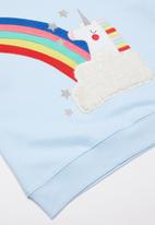 POP CANDY - Rainbow unicorn sweatshirt - light blue