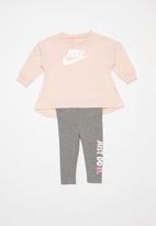 Nike - Nike multi shine legging set - pink & grey