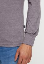 Rip Curl - Box texture long sleeve tee - grey