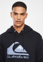Quiksilver - Comp logo screen hoodie - black
