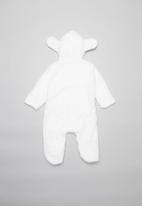 POP CANDY - Teddy babygrow - white