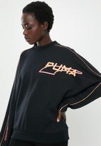 PUMA - Evide crew - black & orange