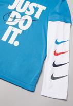 Nike - Nkb sport performance top - blue & white