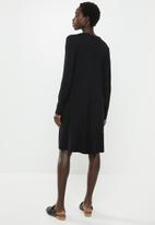 edit - Long sleeve trapeze dress - black