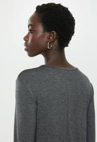 edit - Long sleeve trapeze dress - grey