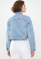 Levi's® - Crop dad trucker slouch around jacket - blue