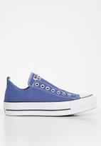 Converse - Chuck Taylor All Star lift slip - washed indigo/black/white