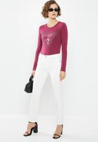 GUESS - Long sleeve mini lace up tee - purple