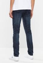 S.P.C.C. - Classic rinse signature feather jeans - dark blue