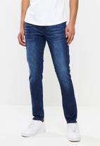 S.P.C.C. - Blue blood signature trench jeans - blue
