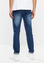 S.P.C.C. - Dirty indigo signature feather - blue