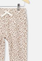 Cotton On - Keira cuff pant - white & brown