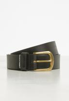 MANGO - Ivan leather belt - black