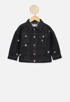 Cotton On - Emmy spliced trucker jacket - black