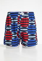 Happy Socks - Optic dot boxer - blue & red