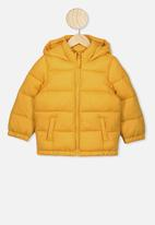 Cotton On - Frankie puffer jacket - honey gold