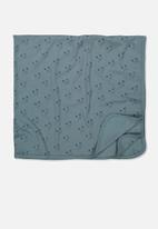 Cotton On - Newborn blanket - blue