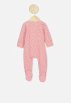 Cotton On - The long sleeve zip romper - musk rose
