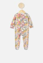 Cotton On - The long sleeve zip romper - multi