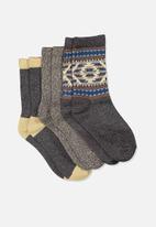 Cotton On - Kids 3 pk fashion crew socks - multi