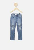Cotton On - Biker moto jean - blue