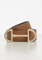 POLO - Julia leather belt - brown