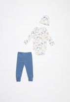 UP Baby - Boys doggie bodysuit set - blue & white