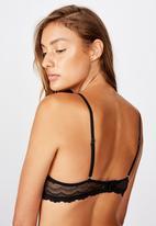 Cotton On - Alice balconette underwire bra - black